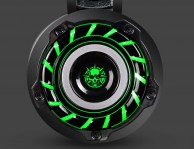 Headset GAMING turbine LED green color  etouch V5-1